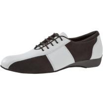 Diamant - Herren Ballroom Sneakers 143-225-378 - Mikrofaser/Leder Schwarz/Weiß - 2,5 cm Keil-Absatz [UK 12,5]