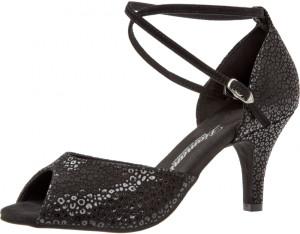 Diamant - Mulheres Sapatos de Dança 017-058-331 - Pele Preto