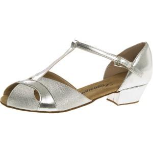 Diamant - Mädchen Tanzschuhe 031-030-045 - Brokat Silber