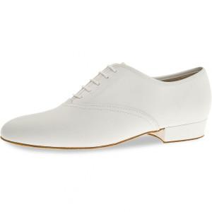 Diamant - Hombres Zapatos de Baile 078-075-033-A - Cuero Blanco