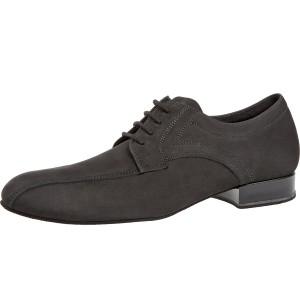 Diamant - Hombres Zapatos de Baile 094-025-448 - Nubuckleder Negro - 2 cm Ballroom [Ancho]