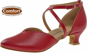 Diamant - Ladies Dance Shoes 107-013-037 - Red Leather