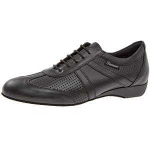 Diamant - Herren Ballroom Sneakers 133-225-042 - Leder Schwarz - 2,5 cm Keil-Absatz [UK 9,5]