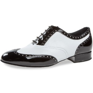 Diamant - Men´s Dance Shoes 177-075-284 - Leather/Patent Black/White