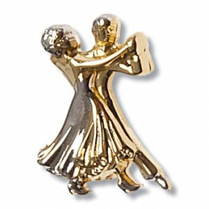 Diamant - Brooch Dance Couple [Oro | 2 cm x 1,5 cm]