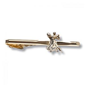 Diamant - Krawattennadel mit Tanzpaar [Gold]