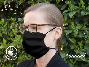 Diamant Mund-Nasen-Maske 2er-Pack (Standard 100 by Oeko-Tex®)
