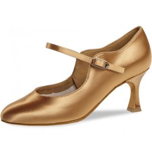 Diamant - Damen Tanzschuhe 050-085-087 - Satin Bronze - 6,5 cm Flare [UK 5]