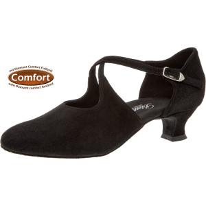 Diamant - Mujeres Zapatos de Baile 052-112-001 - Ante Negro - Muy Ancho - 4,2 cm Spanish [UK 6,5]
