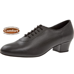 Diamant - Damen Trainerschuhe 093-034-034-A - Leder Schwarz - 3,7 cm Cuban [UK 4,5]