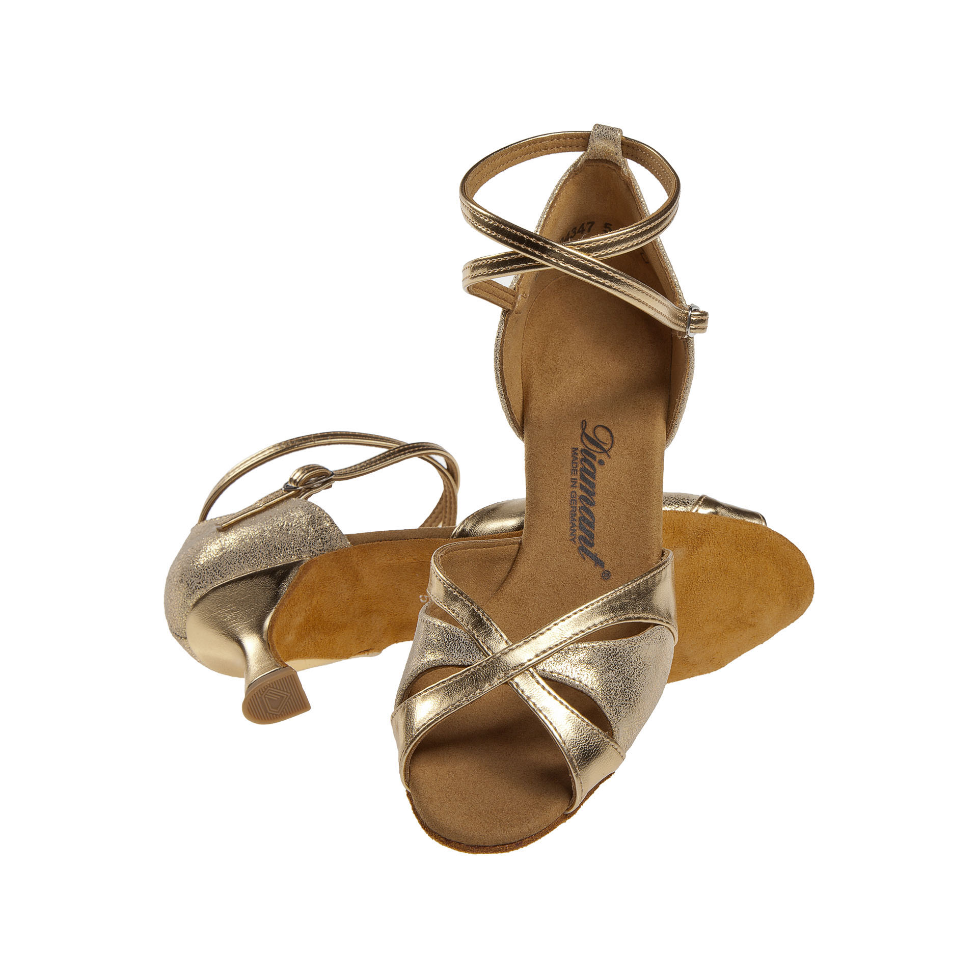 Diamant Tanzschuhe Damen 141-077-464 Latein,Tango und Salsa 5cm Gold
